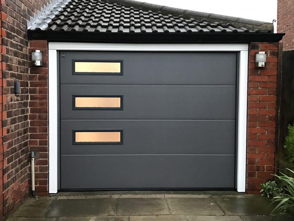 Hormann sectional garage door, Denton