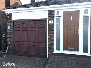Hormann garage door Decograin before