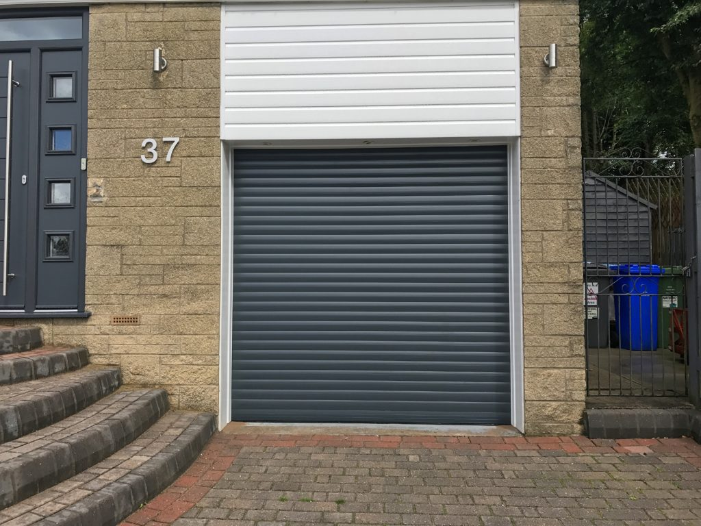 Garage door, Stalybridge closeup