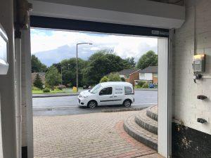 Garage door, Stalybridge inside