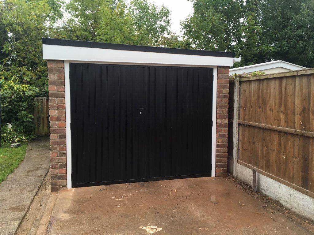 Garage renovation After front