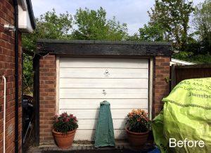 Garage renovation Before front