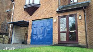 Uppermill roller door before