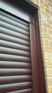 Uppermill roller door closeup