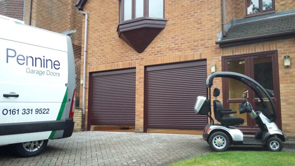 Uppermill roller door van