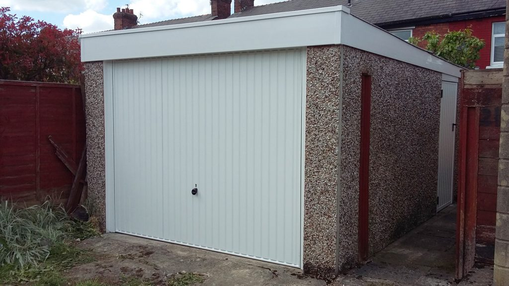Garage renovation, Hyde, Tameside front