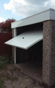 Garage renovation, Hyde, Tameside open