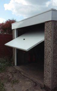 Garage renovation, Hyde, Tameside open