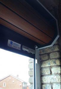 AlluGuard roller garage door, Godley inside