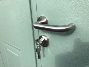 Carteck side hinged, Denton handle