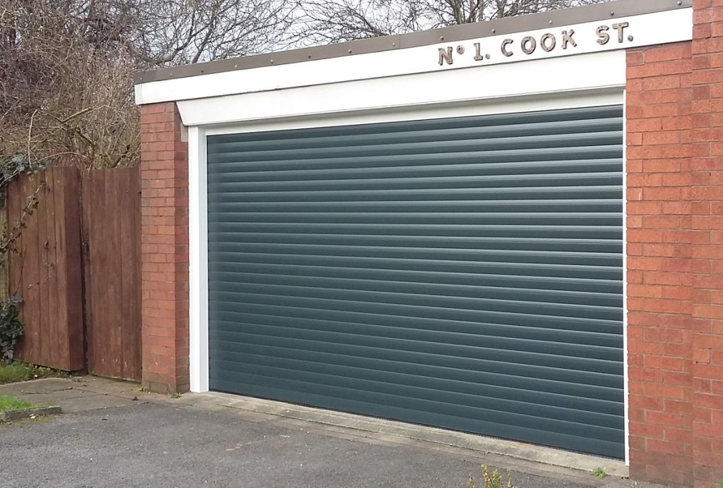 AlluGuard roller door, Denton, Tameside